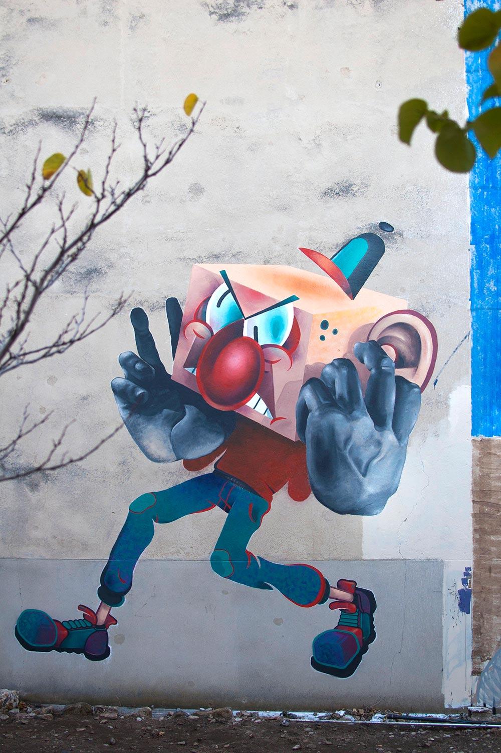 nefrit artist graffiti fresque peinture peintre street art